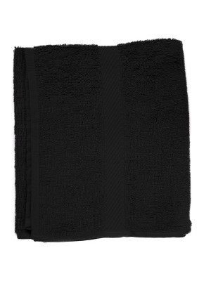 Friseur Frottee-tuch in schwarz 50x90 cm