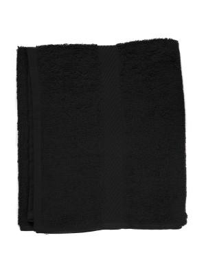 Friseur Frottee-tuch in schwarz 30x90 cm