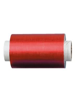 Fripac-Medis Aluminium-Haarfolie geprägt in rot – 15my