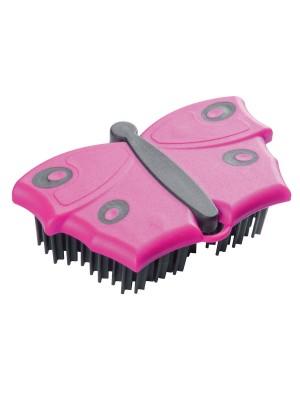 V7 Friseur-Kleiderbürste Schmetterling in Pink