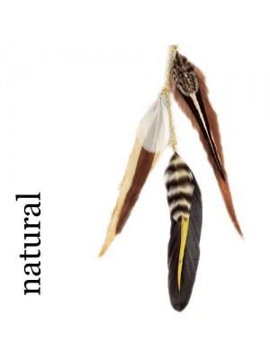 Great Lenghts Feather Charms Natural