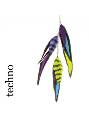 Great Lenghts Feather Charms Techno