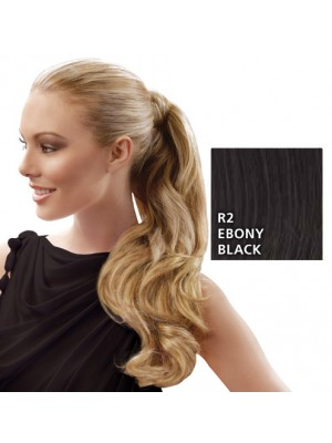 "Great Lenghts HAIRDO 23"" Wrap Around Zopf Ebony Black"