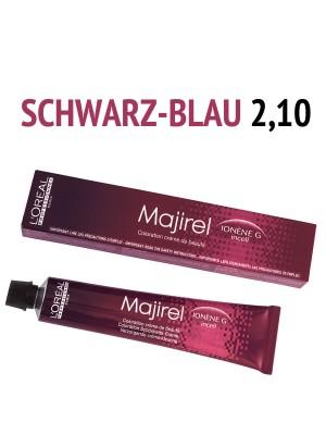 L´Oréal Professionnel - Majirel Haarfarbe schwarz blau 2,10 - 50 ml
