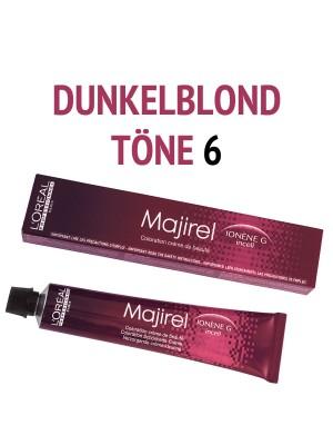 L´Oréal Professionnel - Majirel Haarfarbe Dunkelblond 6 - 50 ml