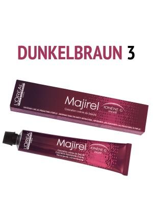 L´Oréal Professionnel - Majirel Haarfarbe dunkelbraun 3 - 50 ml