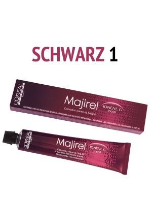 L´Oréal Professionnel - Majirel Haarfarbe schwarz 1 - 50 ml