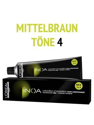 L´Oréal Professionnel - Inoa Haarfarbe mittelbraun 4 - 60 ml