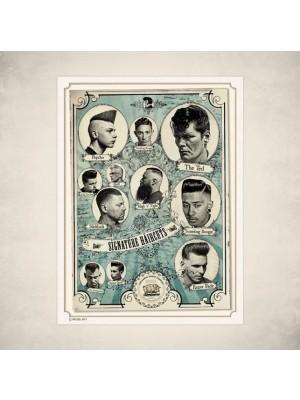 Barbershop Classics Poster Signature Haircuts Poster 2er Set